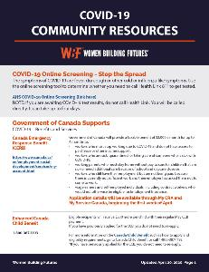 COVID-19 Community Info Sheet UPDATED April 20, 2020